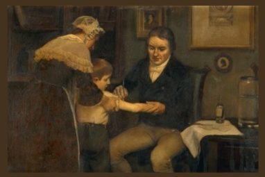 दुनिया का पहला टीकाकरण करते ए़डवर्ड जेनर