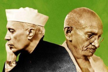 महात्मा गांधी और जवाहरलाल नेहरू